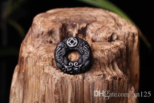 Pi yao natürlicher Obsidian Halskette Schmuck sicher Schnalle Glück