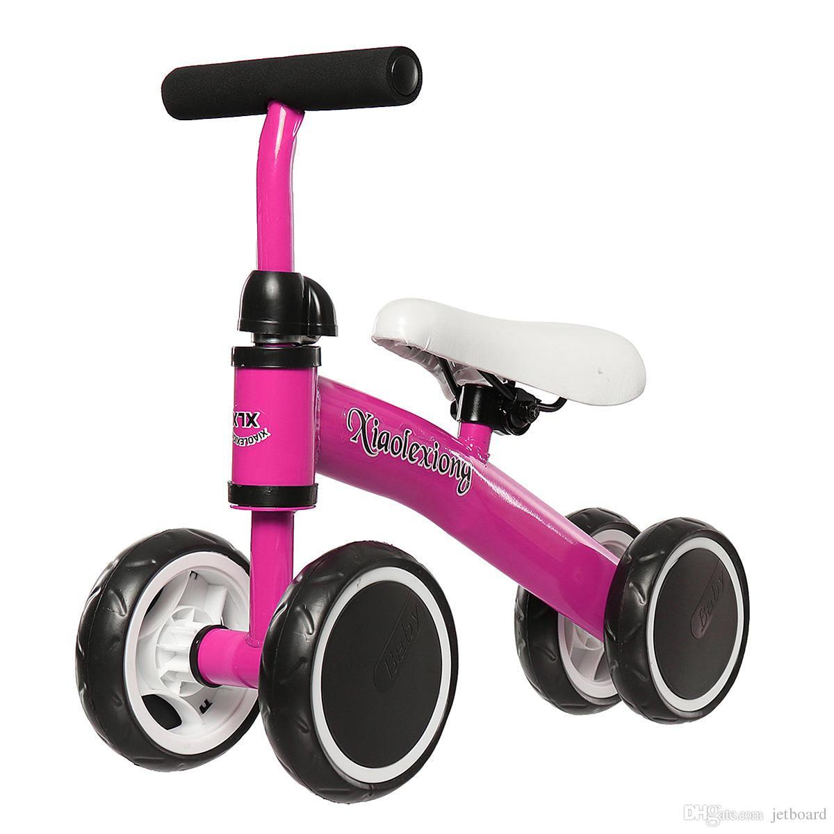 Mini Kids Bike Scooter Baby No-Pedal Bicycle Kid Balance Bike Adjustable Seat Walk Training Four Wheels Safety