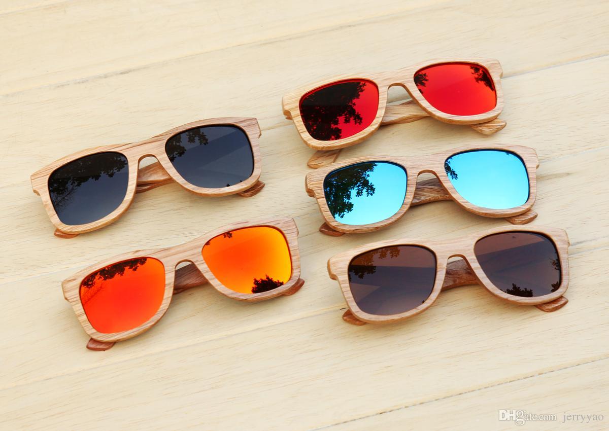 gafas de sol de madera hechas a mano de la naturaleza gafas de sol de madera de bambú gafas de sol de madera gafas de sol polarizadas gafas de sol de gama alta de moda UV400