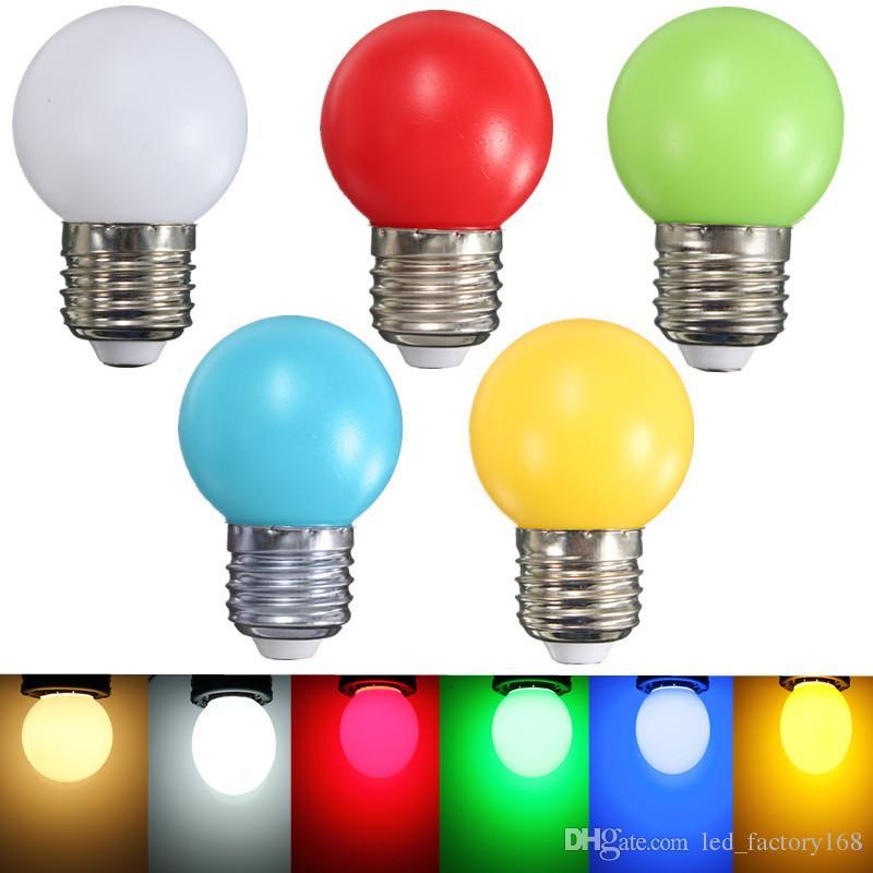 Bunte LED-Glühlampe führen Birnen-Ampoule E27 3W energiesparende Licht-bunten Golf-Kugel-Licht-Kugel-Lampen Home Bar KTV-Dekor-Beleuchtung