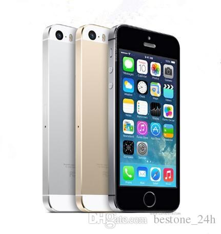 "Refurbished Original Unlocked Apple iPhone 5S WITH fingerprint iOS A7 4.0"" 8MP IPS HD GPS 16GB 32GB ROM Phones"