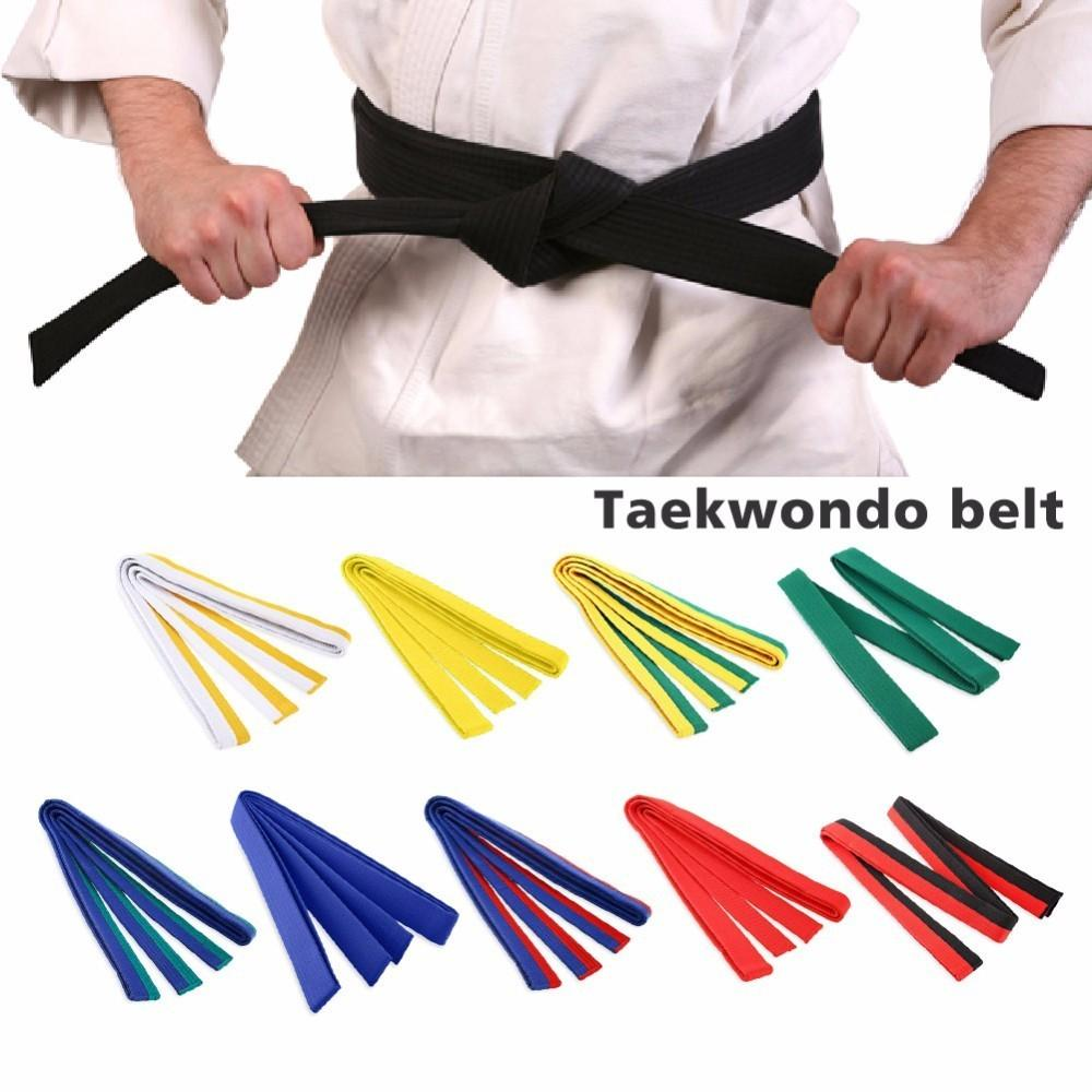 Professional Taekwondo Belt Karate Judo Double Wrap Martial Arts Stripe Sports