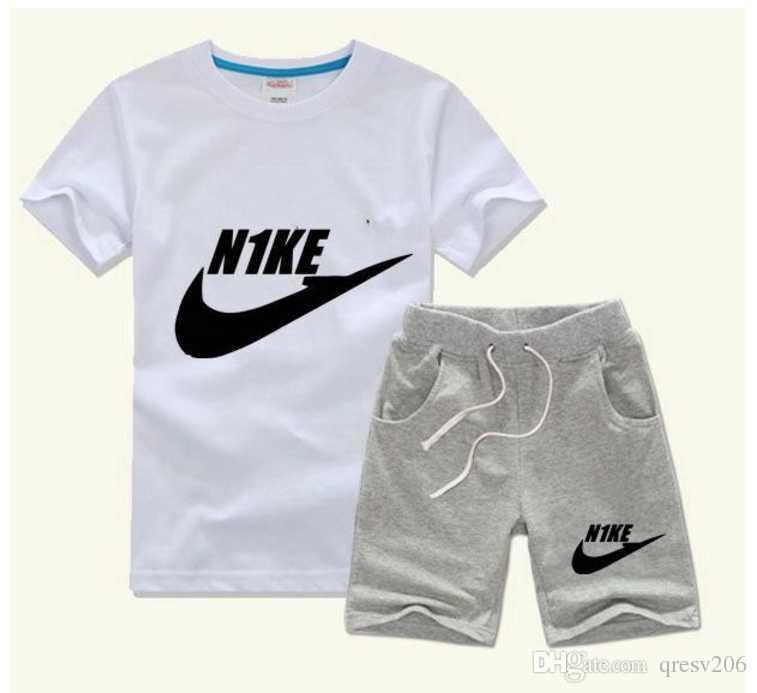 2020 h erkek Çocuklar Setleri Çocuklar T-shirt Ve Pantolon Çocuk Pamuk Setleri Bebek Erkek Kız Yaz Suit Bebek Spor Suit 2 Adet / takım