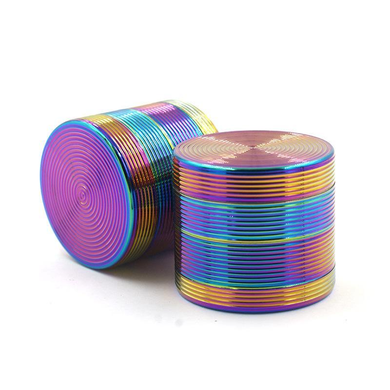 Nowa Rainbow Gwint Kształt Stop Cynkowy Mini Mini Zioła Szlifierka Spice Miller Crusher Wysokiej Jakości Piękna wyjątkowa konstrukcja Najsilniejszy magnetyczny DHL za darmo