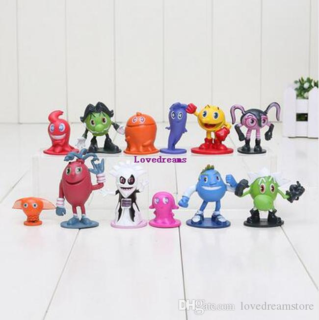 New Sale HOT Game Pac-Man and the Ghostly Adventures no phone Keychains Figures Toy Gift 12Pcs Set Kids Gift
