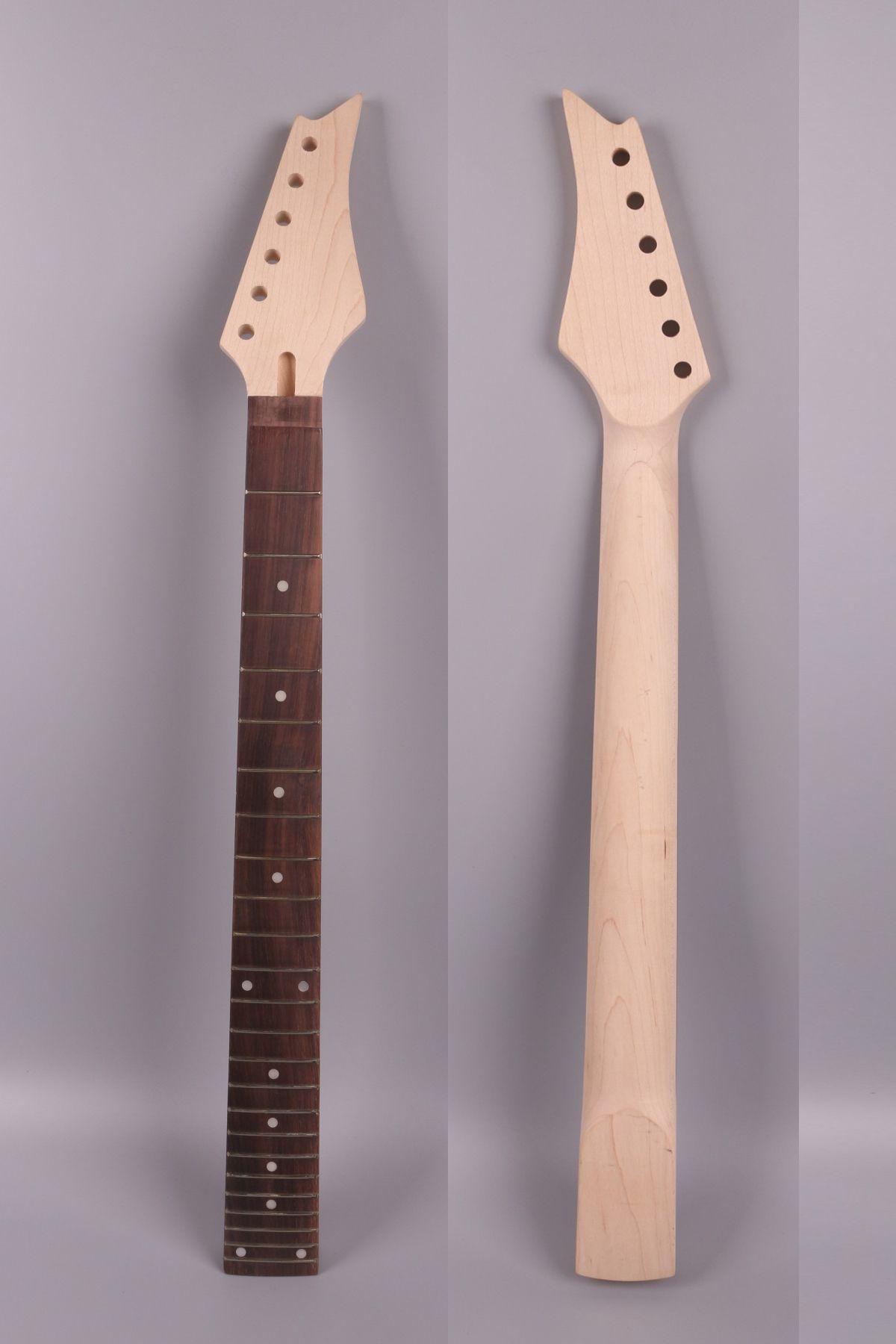 """Guitare électrique Pièces de rechange de manche 24 frettes 24.75 pouces / 25.5 """"érable palissandre Truss rod Boulon sur IBA poupée de haute qualité # IBA1"""