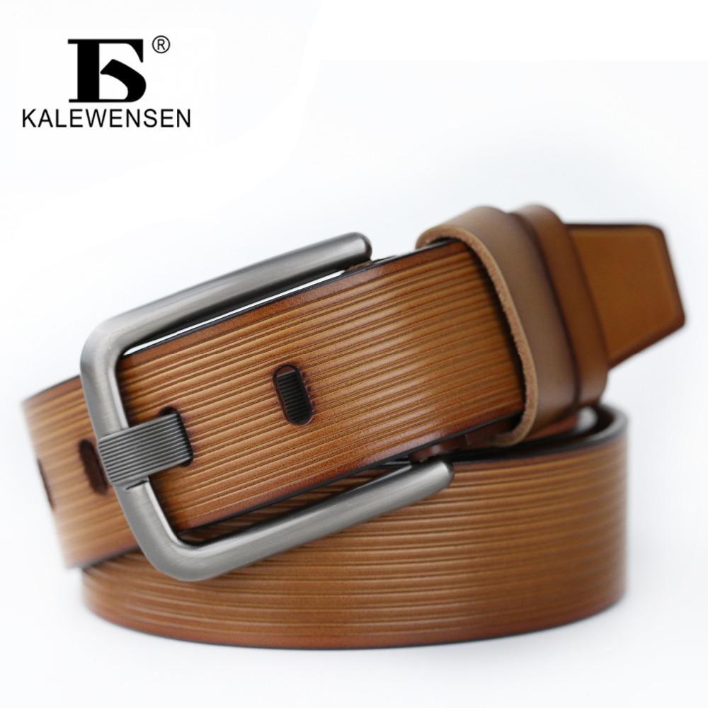 2017 100% Genuine Leather Belt for Men 4.0cm mens black belt unique mens belts cowskin leather 120cm LJ038