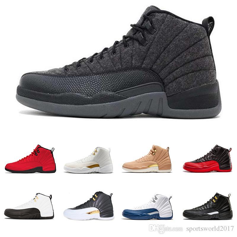 Michigan 12 Vachetta Tan 12s WINGS Navy man basketball shoes bulls UNC Flu Game the master black white taxi men Sports designer sneakers