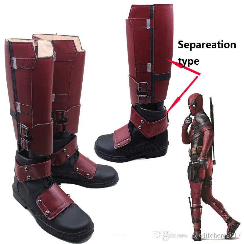 Exclusive New Arrival Cool X-men Deadpool Cosplay Boots Shoes Customized Quality