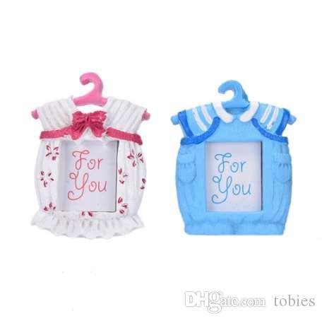 إطار الصورة الصغيرة الراتنج ملابس الطفل نمط الطفل إطار الصورة أفضل الهدايا ديكور المنزل الوردي الأزرق المنزلية