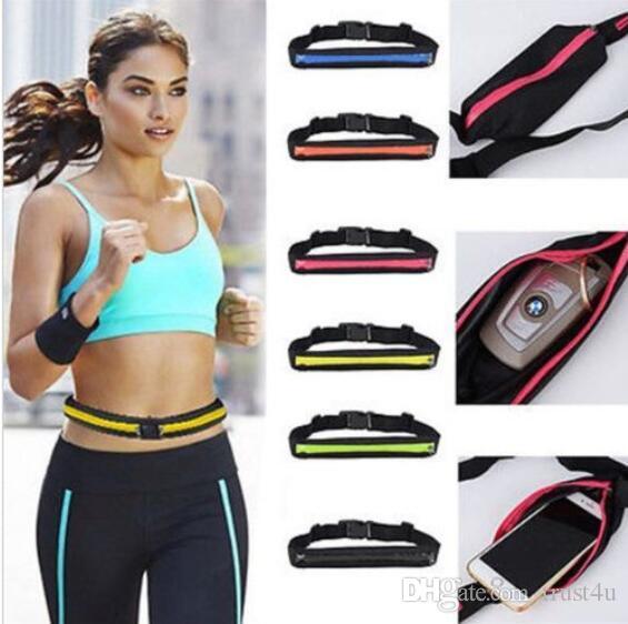 Mobile Phone Outdoor Bag Sport Runner Zipper Fanny Pack Belly Waist Bag Fitness Running Belt Pouch Waist Belts