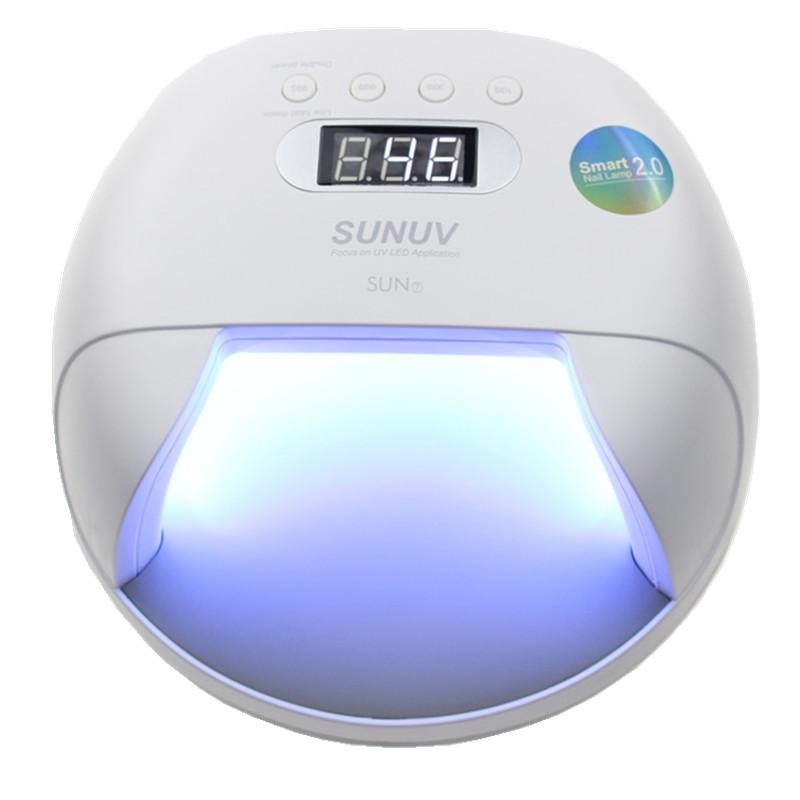 2019 Original Sunuv Sun7 Nail Lamp 48w Uv Led Double Light Source Nail Dryer Machine With Smart Timer Memory And Sensor Power Storage From Manxing