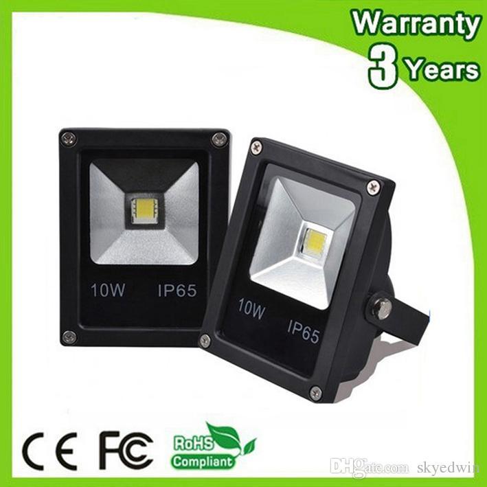 (10PCS/Lot) AC85-265V 12V LED Flood Light LED Floodlight 10W DC12V 24V 100-110LM/W Thick Housing 3 Years Warranty High Brightness