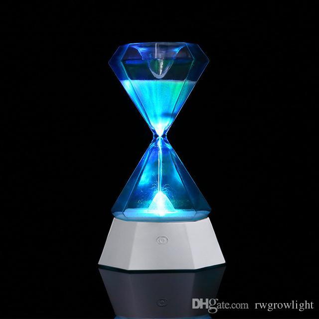 la decoración del hogar del reloj de reloj de arena inducción de la noche light lámpara de sobremesa gestor de colorido larga vida útil para el otoño de regalos dormido