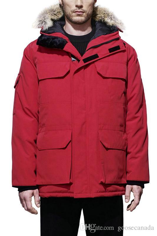 Manteau Oberbekleidung Daunenjacke Parka Kanada Mit Kapuze Hiver Winter Homme Großhandel Mantel Herren Jassen Pelz Fourrure 8mnw0N