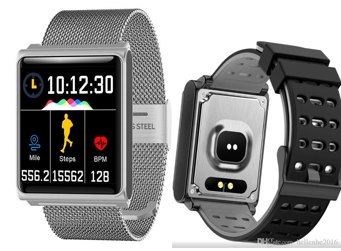 اللون الذكية ووتش N98 سوار ماء معصمه الذكية مع ارتفاع ضغط القلب معدل اللياقة البدنية