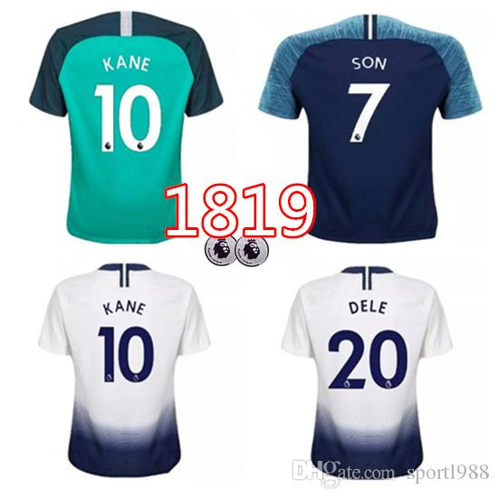 online retailer 197a0 5ebd4 2018 18/19 Spurs Home Soccer Jersey Kane Jerseys Kits Away 2018 2019 Lamela  Eriksen Dele Son Away Blue Spurs Kist Football Shirts From Mbappe1108, ...