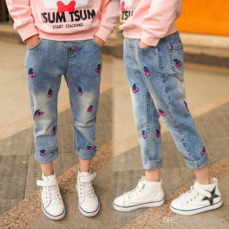 Vêtements pour enfants Filles Jeans Pour Fille Printemps Bébé Jeans Fille Enfants Pantalon Boutique Enfants Pantalons printemps 2018