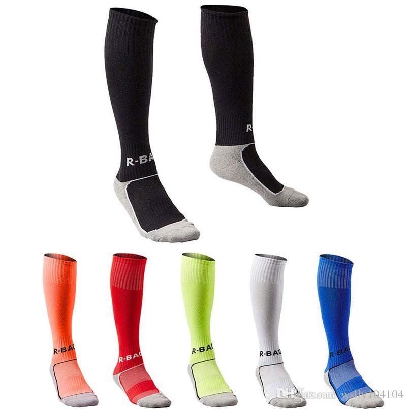 أطفال طويل لكرة القدم الجوارب الرياضة فريق أنبوب ضغط جوارب الركبة عالية الجوارب كرة القدم منشفة القاع للجنسين شباب 7-13 سنوات القطن