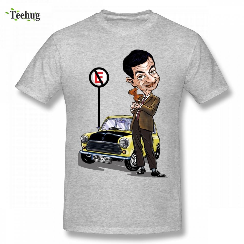 Graphic Cotton Mr Bean T Man Retro Mini Cooper Car T Shirt Para Homme Masculino engraçado camiseta frete grátis