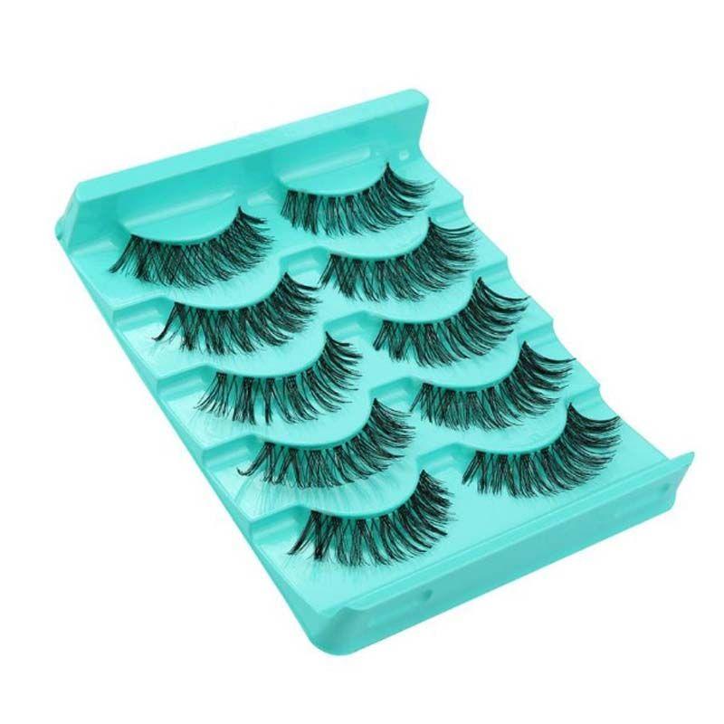 100Boxes Wholesale Price Transparent Band Crisscross False Eyelashes Lashes Voluminous Hot Eye Lashes Fashion Out Top Free Shipping
