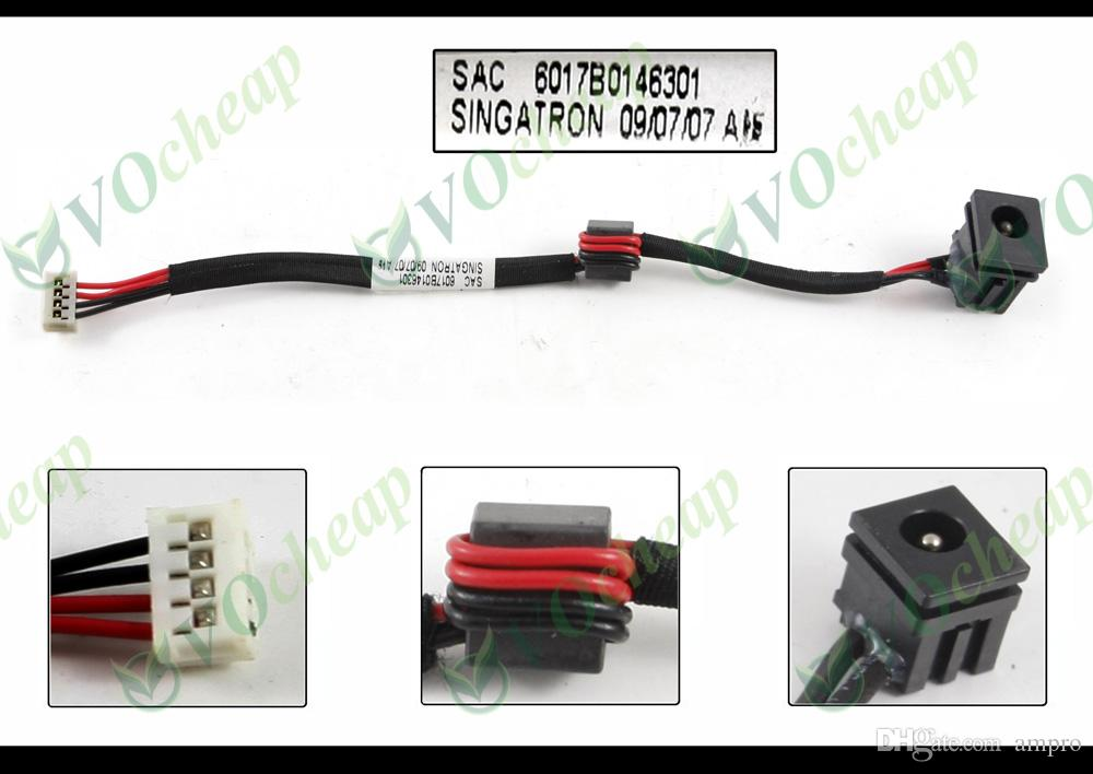 2 x nuovo Laptop DC power jack per Toshiba Satellite L300 L300D L305 L305D serie con cavo - PJ114 6017B0146301