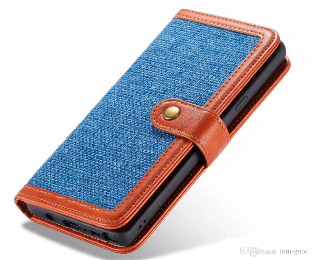 For iphone XS XR Plus Note9 S9 Real Genuine Leather Wallet Credit Card Holder Stand Case Cover For iphone 8 /8plus