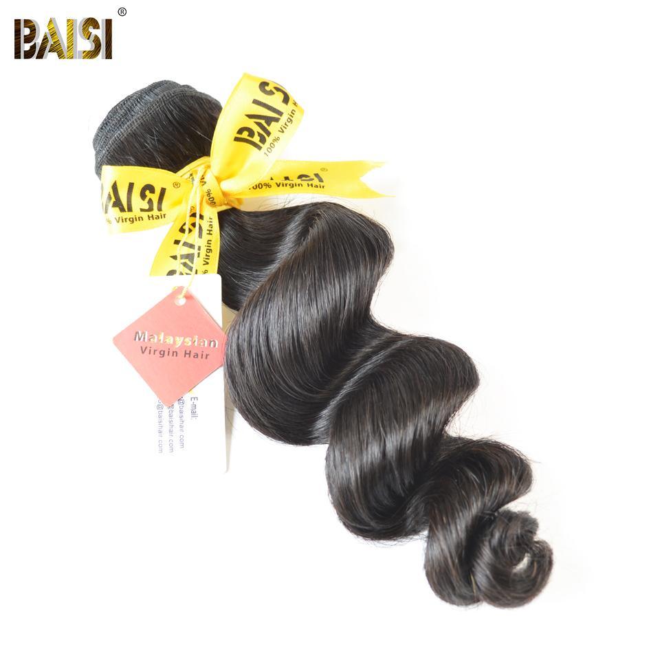 Baisi Malásia Virgin cabelo solto onda Nature Color 100% Pacotes Cabelo Humano 12-28inch frete grátis