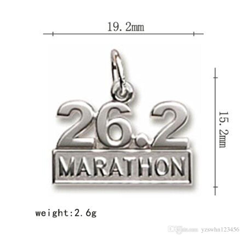 26.2 Full 13.1 Half Marathon Charms for Jewelry Hacienda de deportes Charms Metal Colgantes Collares Haciendo accesorios