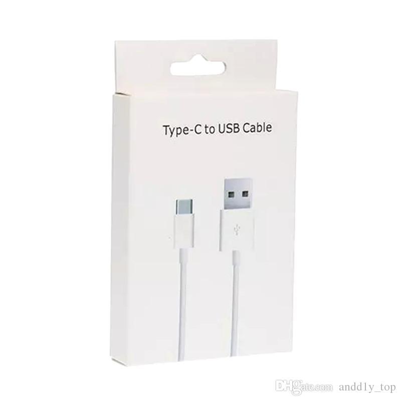 Tipo de cabo-C USB para Huawei Xiaomi carregamento rápido USB Data Cabos C Tipo cabo de carregamento para Samsung Celular Cabos com Retail Box