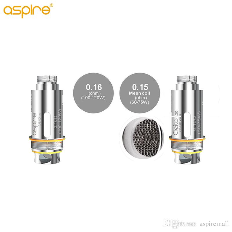 Authentique Aspire Cleito 120 Mesh Coil 0.15ohm (60-75W) Compatible avec Cleito 120 Pro / Cleito 120 réservoir