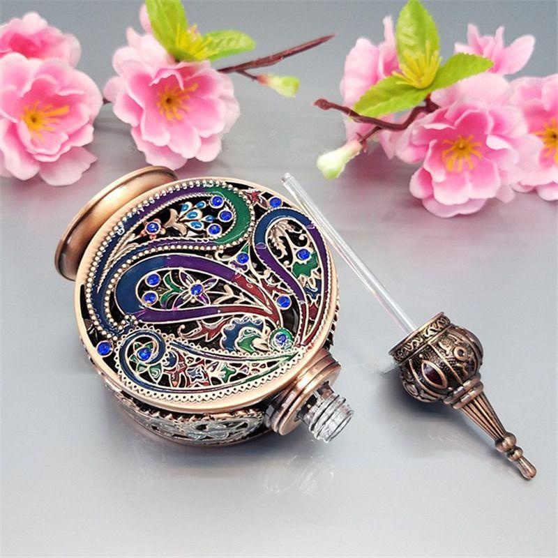 12 ml Yüksek kalite Gümüş Vintage Boş Parfüm Şişeleri, Bronz Alaşım Arapça parfüm şişesi dubai, antika parfum metal şişe