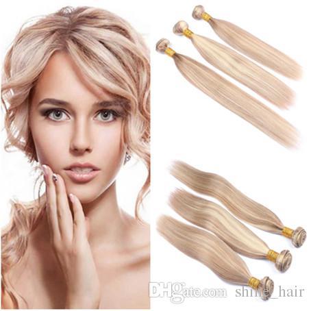 # 27/613 Mezcla Piano Color Virginal Peruano Tramas de cabello humano Sedoso Recto resaltado Mezclado Virgin Remy Tejidos de cabello humano 3 paquetes de ofertas