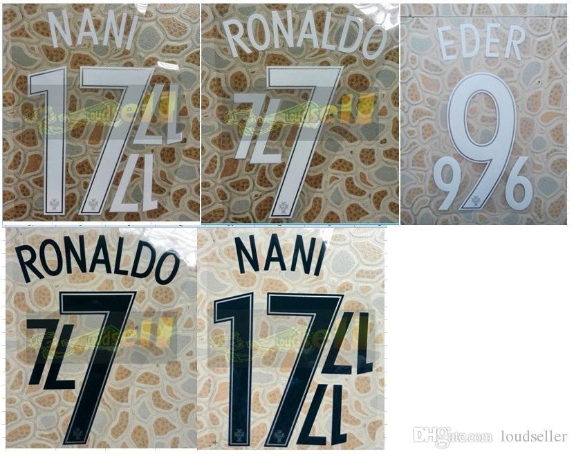2016 Portugal NANI RONALDO EDER name numbering nameset soccer patch soccer badge