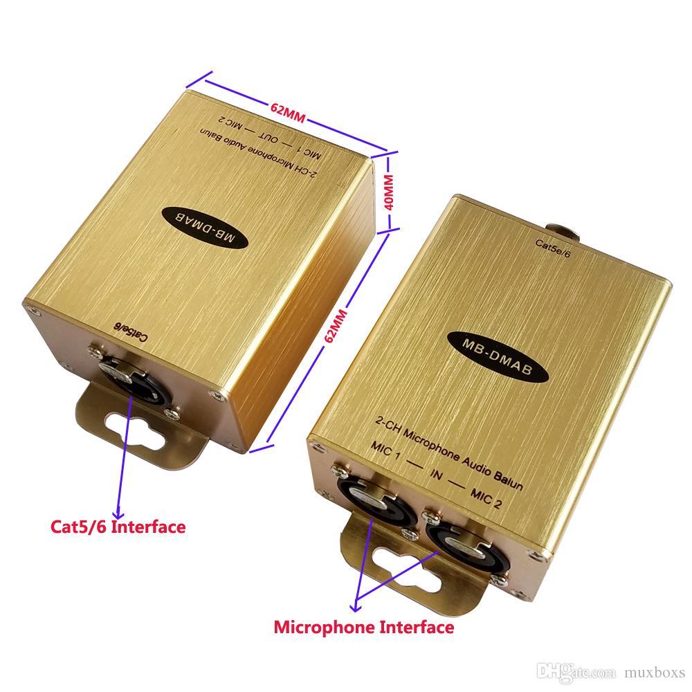 Cat5 Üzerinden Mikrofon Genişletici / 6 Phantom Güç Mikrofon Adaptörü Phantom Mikrofon Adaptörü Phantom Adaptörü üzerinde cat5 / 6