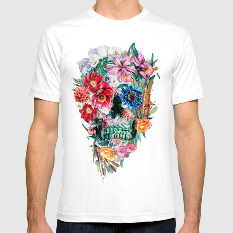 New Fashion Momento Mori VI Stampa Cotone O Collo Mens Manica corta da Uomo Tshirt Uomo Supera Tees all'ingrosso