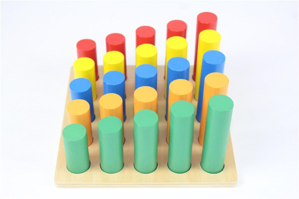 Baby Toy Knobless Cylinder Blocks Early Childhood Education Preschool Training Kids Toys Brinquedos Juguetes