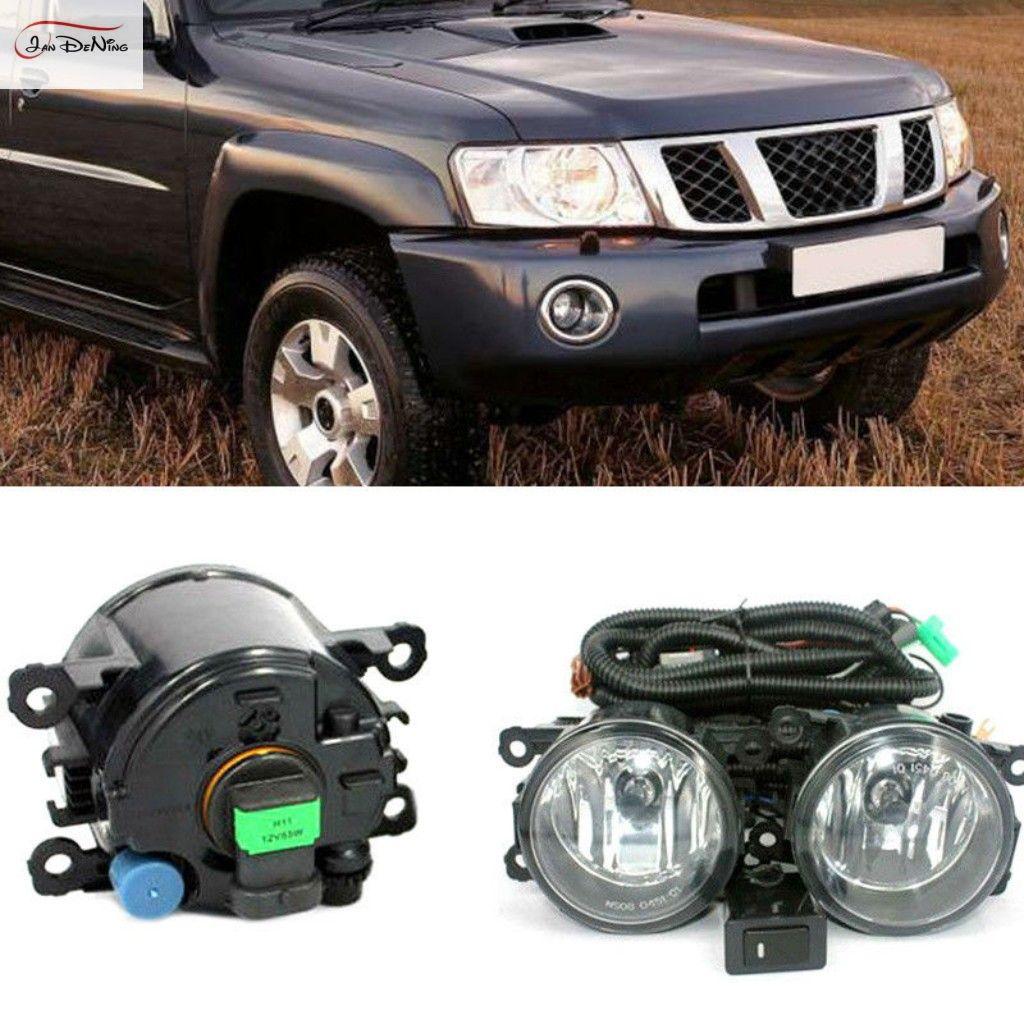 Nissan Patrol Y61 2005-2010 Için araba Sis Farları Ön Sis Lambası Işık Montaj kiti (bir Çift)