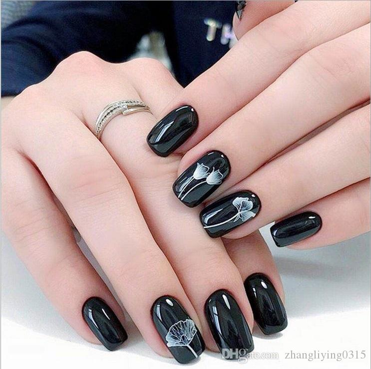 Hanyi New 2018 Glitter Wedding Designs 3d Nail Patch Art Stickers Korean  Water Transfer Cartoon Nail Foil Wraps Decals Nail Foil Nail Stencils From
