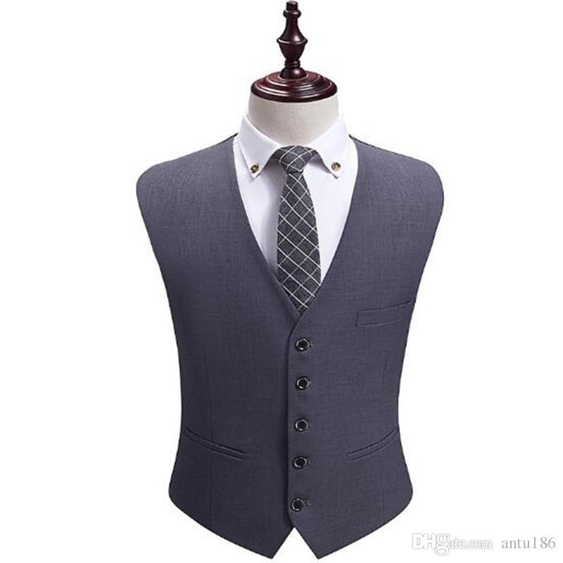 Özelleştirilmiş yeni sıcak İngiliz rüzgar elbise yelek erkek ince rahat takım elbise yelek iş resmi ofis profesyonel aşınma