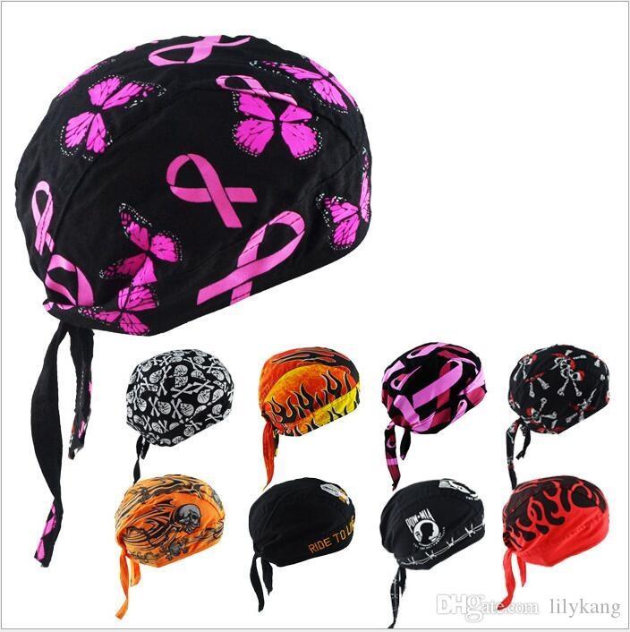 Algodão estilo pirata cap turbante hip hop dancling dos desenhos animados do crânio cap piratas chapéu esportes ao ar livre anti proteção UV bicicleta cap cachecol