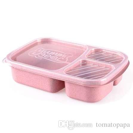 Lunch Box Wheat Straw Biodegradable Microwave Bento Box Food Storage Box school food containers with compartments for kids