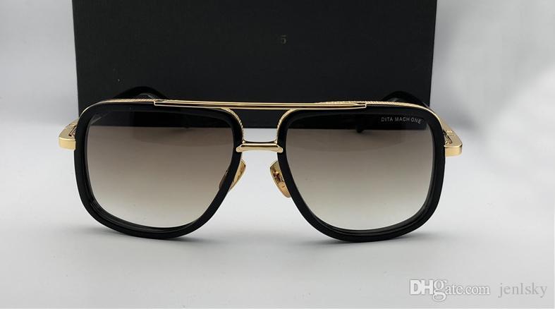 ouro clássico / marrom piloto Sunglasses 2030 gafas óculos de sol Sonnenbrille do vintage para homens Óculos de sol New com caixa