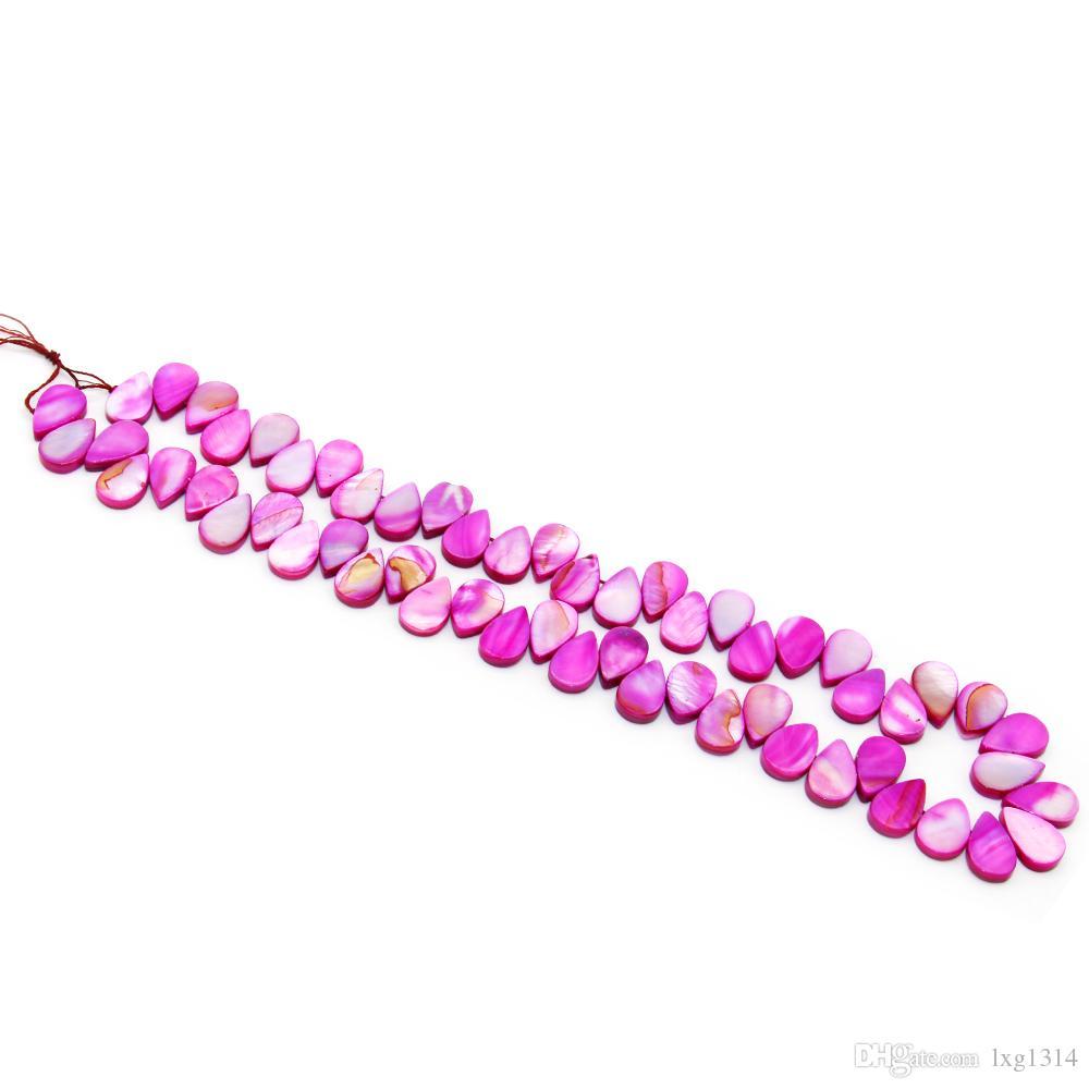 Mode charme bijoux accessoires huîtres naturels coquillages teints shell morceaux boucles d'oreilles collier bijoux accessoires
