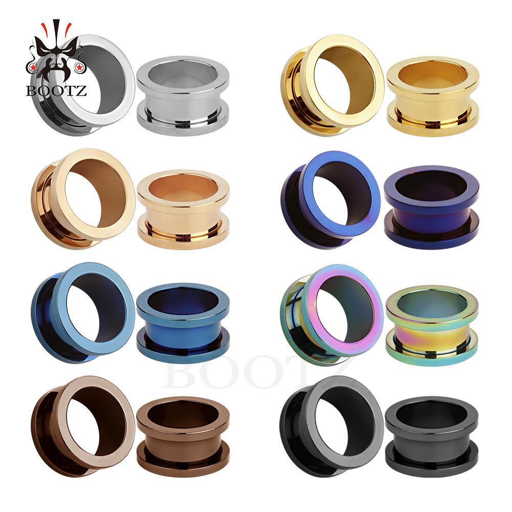 KUBOOZ piercing populares túneles y tapones para los oídos de acero inoxidable de 8 colores.