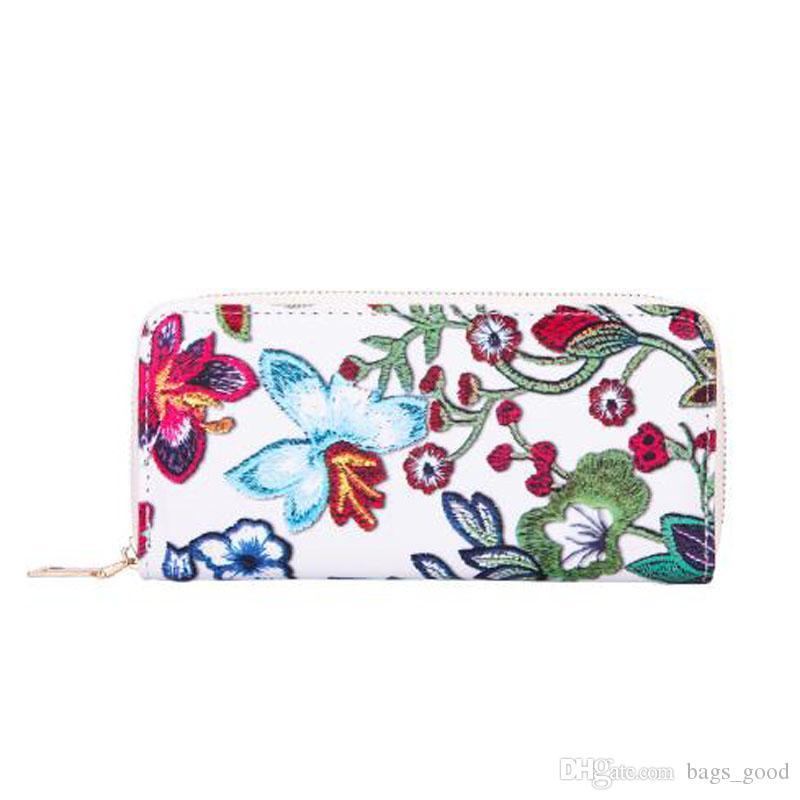 Yeni kadın Cüzdan Rahat PU Deri Çiçek Baskı Kart Sahibinin Billfold Çanta Cüzdan Çanta ücretsiz kargo