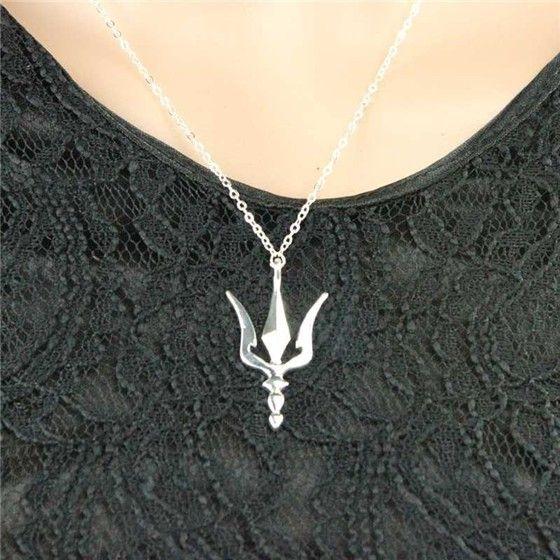 Trident Charm Halskette Neptun Poseidon Deification Griechische Speer Waffe Halskette Ukrainisches Symbol Geometrische Polygon Waffe Lanze Schmuck