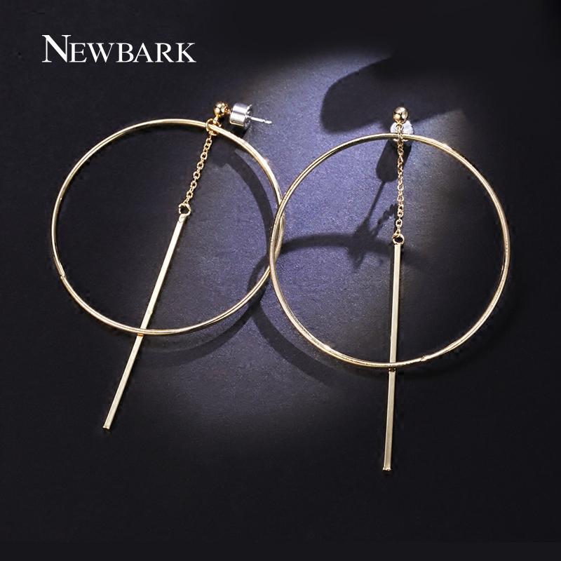 NEWBARK Moda Stile Coreano Color Oro Orecchini Grande Cerchio Orecchino Donna Gioielli Dichiarazione boucles d'oreilles pendantes C18110801