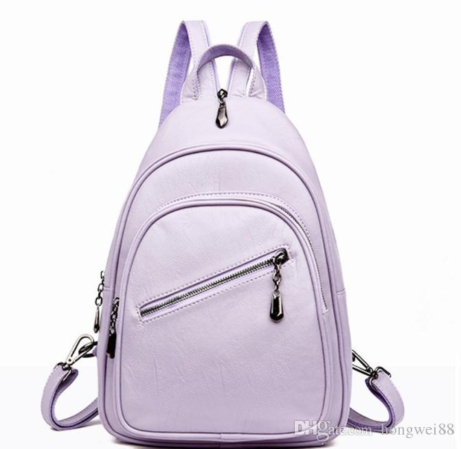 Envio gratuito de Hot saco de ombro Duplo 2018 novo estilo de moda versão Coreana de mochila feminina