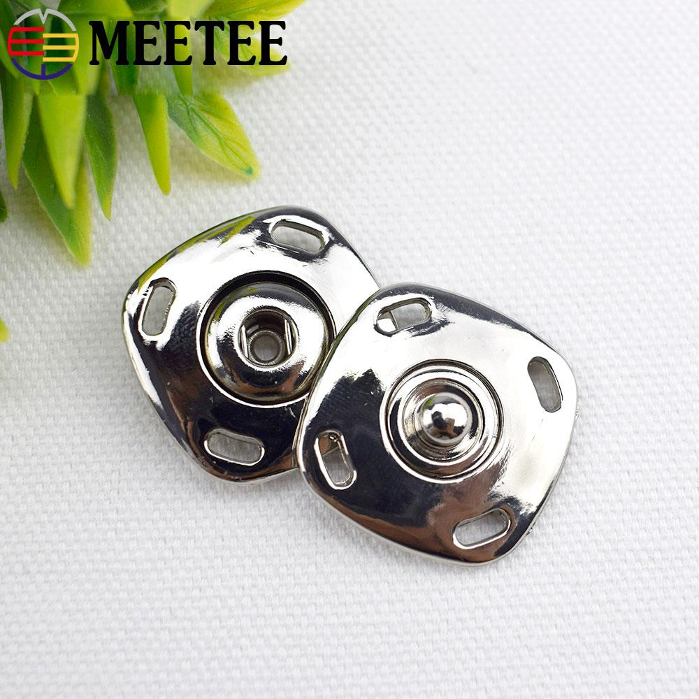 Meetee Top Fashion Sale Alloy Buttons Scrapbooking High-grade Metal Snap Button Square Coat Sweater Clothes Freeshipping D5-3